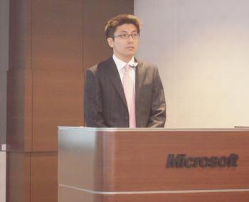 日本マイクロソフト株式会社 Dynamicsビジネス本部 宇根靖人氏