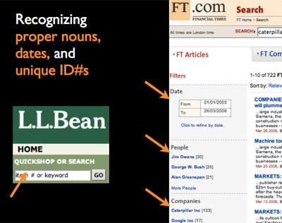 サイト内検索におけるコンテキストを考慮したL.L.Beanとft.comの検索結果
