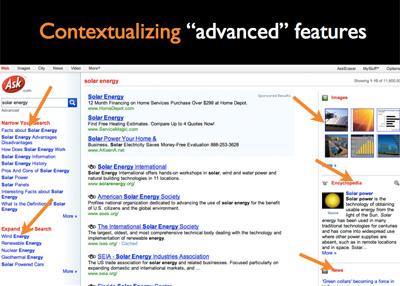サイト内検索におけるコンテキストを考慮したAsk.comの検索結果