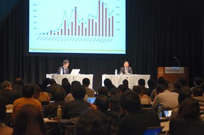具体的な数字もセッションでは公開され、熱心に耳を傾ける参加者も目立った