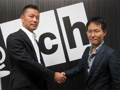 ビジネスサーチテクノロジ代表取締役CEO 城野洋一氏(左) 清水誠氏(右)