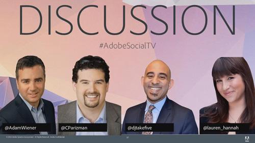 左から「CBS Local」ワイナー氏、「Scripps Networks」チャド氏、「BET」レスピナス氏、「Adobe」フリードマン氏