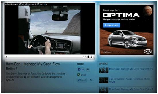インストリーム型動画広告の配信イメージ