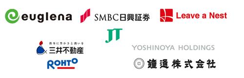 日本たばこ産業、三井不動産、吉野家HD、ロート製薬、鐘通が出資者として参加。