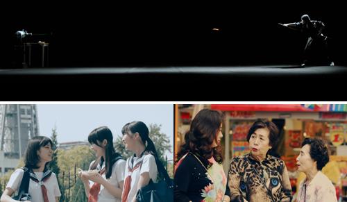 平成の侍「町井勲」居合斬りで一刀両断(ソフトバンク:上)、【対決】女子高生 vs 大阪のヒョウ Kawaii Japanese girls chat(au:下)