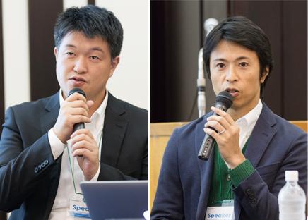 株式会社イノーバ 代表取締役社長 宗像 淳氏(左)、SATORI株式会社 代表取締役 植山 浩介氏(右)