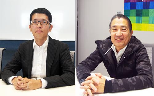 話を伺ったフェイスブック&インスタグラム ジャパンマーケティング サイエンス リード小関悠氏(左)、クリエイティブ ストラテジスト 田中徹氏(右)