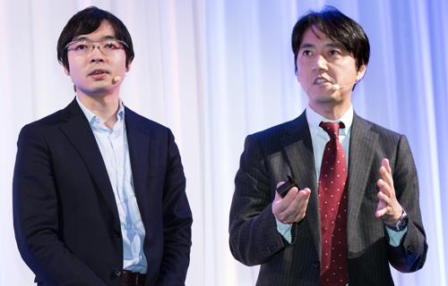 株式会社リクルートジョブズ IT戦略室 デジタルマーケティング部 部長 板澤一樹氏(左)、株式会社セールスフォース・ドットコム 執行役員 Salesforce Marketing Cloud 笹俊文氏(右)