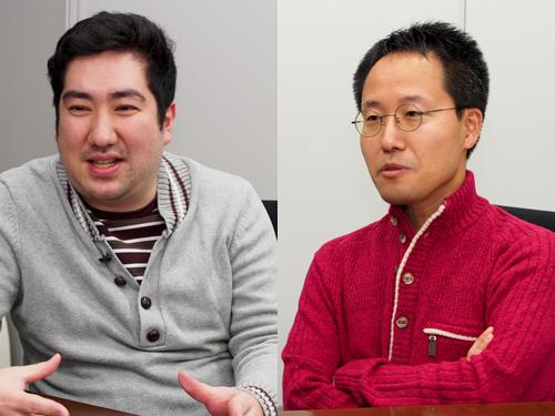 写真左:小川卓氏 写真右:清水誠氏