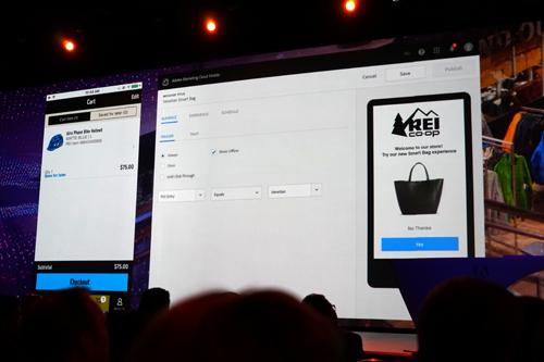 スマートバッグに入れた商品はアプリのカートにも追加される