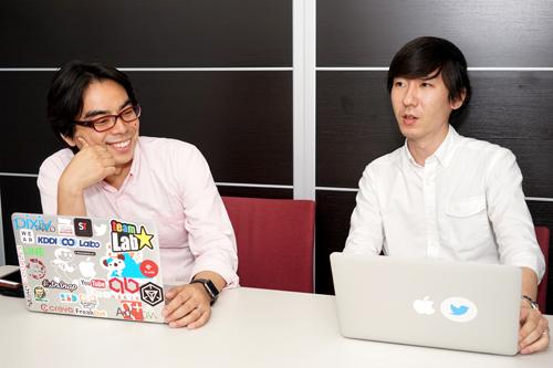 島袋孝一氏(左)と緒方 恵氏(右)