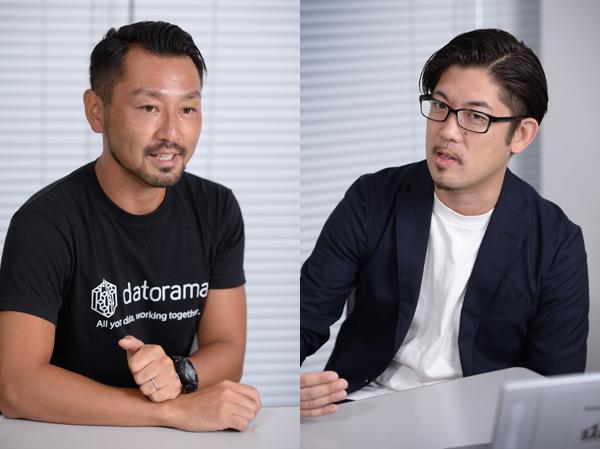 左から、Datorama Japan株式会社 セールスディレクター/ビジネスディベロップメント 石戸亮氏、株式会社エスワンオーインタラクティブ 代表取締役社長 高瀬大輔氏