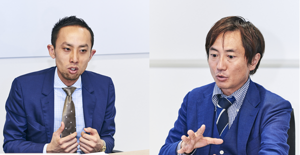 (左)株式会社ワンスター 増井秀人氏(右)ヤフー株式会社 宇都宮正騎氏