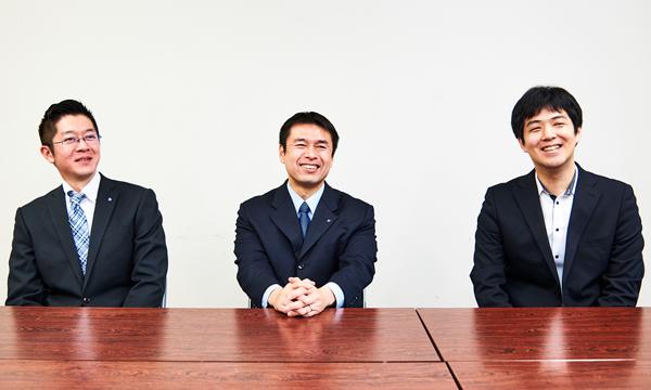 横浜市 資源循環局 政策調整部 3R推進課 課長 江口洋人氏(写真中央)同 3R推進課 宗像献氏(写真左)NTTドコモ イノベーション統括部 クラウドソリューション担当 小林拓也氏(写真右)