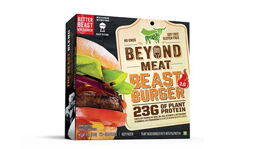 代用肉のハンバーガー(Beyond MeatのWebサイトより)http://beyondmeat.com/products/view/the-beast-burger