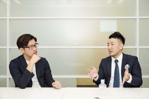 左からエスワンオーインタラクティブ 高瀬大輔氏、サイカ 平尾喜昭氏