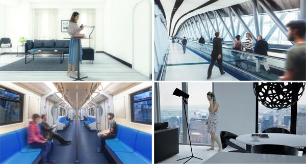 活用シーンのイメージ駅や空港など、撮影許可の取りづらいロケーションも再現できる