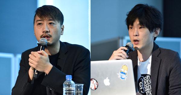 (左)株式会社I-ne 代表取締役 BDマーケティング本部 今井新氏(右)同社 同部 横田