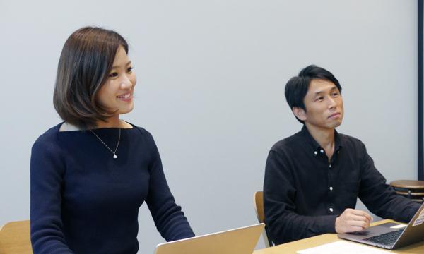 LINE株式会社 ゲーム事業本部 奥井麻矢さん(写真左)、中田陽平さん(写真右)