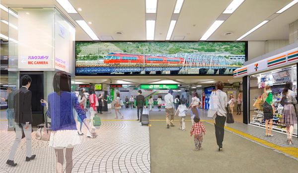新宿駅デジタルウォール イメージ