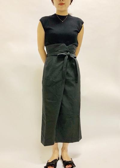 開発されたロングスカート