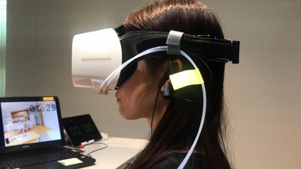 VRと脳波計を用いた調査