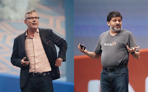 外向的な性格のブライアン・ハリガン氏(写真左)と、内向的な性格のダーメッシュ・シャア氏(写真右)