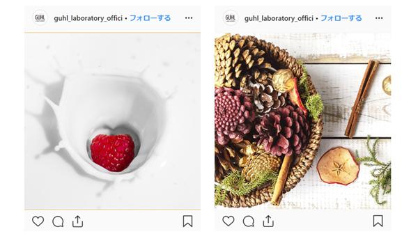「GUHL」公式Instagram(@guhl_laboratory_official_jp)の投稿例