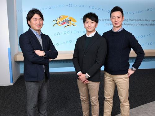 (左)皆巳祐一氏(中央)安藤毅氏(右)永沢拓也氏