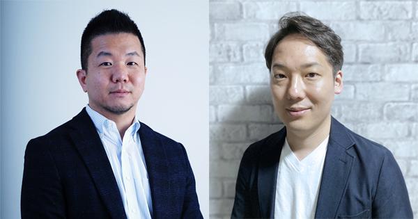 (写真左)Sansan Sansan事業部 マーケティング部 副部長 福永和洋氏、(写真右)ヤプリ 執行役員 兼 CMO 山本崇博氏
