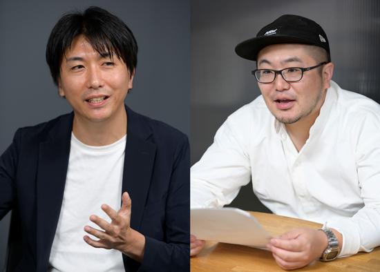 (左)アイレップ取締役/TEAM JAZZ代表 北爪宏彰氏(右)The Breakthrough Company GO 代表取締役 PR/Creative Director 三浦崇宏氏