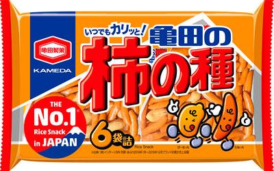 200g 亀田の柿の種 6袋詰