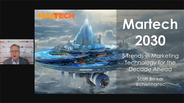 MarTech 2030のオープニングスライド