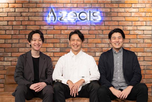 左:COO 遠藤氏、中:執行役員 渡邊氏、右:CEO 清水氏
