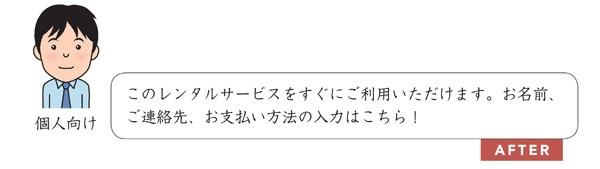 文例4.3.4 個人のユーザーに寄り添った表現に修正