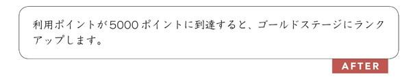 文例4.3.6 ユーザーにとってよいことを書く
