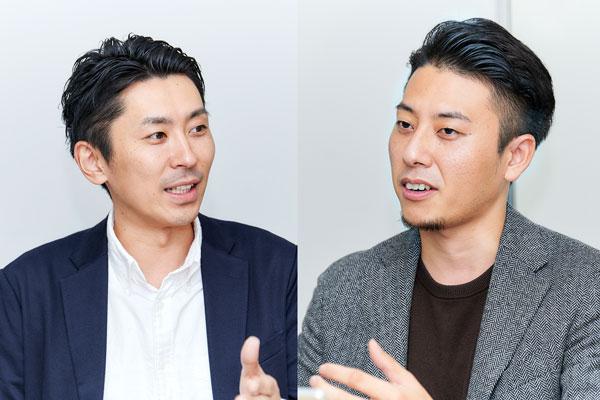 (左)株式会社wevnal 代表取締役社長 磯山博文氏、(右)同社 SNSマーケティング事業部 小嶋和弘氏