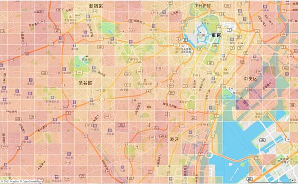 地域メッシュデータのイメージ