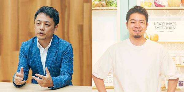 (写真左)subsclife 代表取締役社長 町野健氏(写真右)Greenspoon 代表取締役CEO 田邊 友則氏