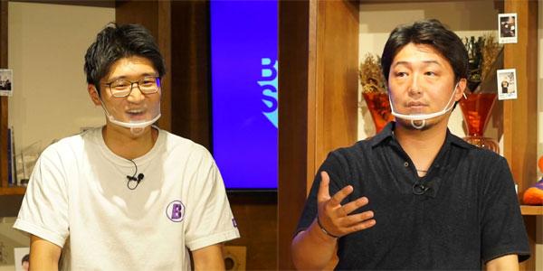 (写真左)BitStar 代表取締役社長CEO 渡邉拓氏、(写真右)ケイコンテンツ 代表取締役 平山勝雄氏