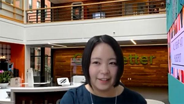 HubSpot 日本語ブログ編集長 水落 絵理香氏/HubSpot 日本語ブログ編集長。CMS制作会社の営業、マーケティングメディアのライター・編集を経て独立。2年間フリーランスとして活動した後、2020年1月にHubSpotに入社。